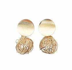 WIRE CAGED PEARL EARRINGS