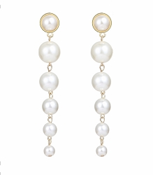 MULTI PEARL LONG DROP EARRINGS