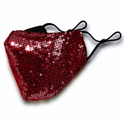 Sequin Face Mask- with FILTER POCKET