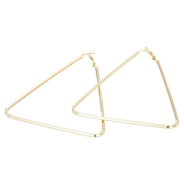 LARGE TRIANGLE HOOPS- GOLD