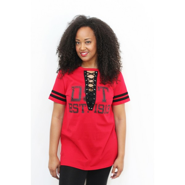 DST Lace Up Tee