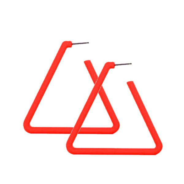 RED TRIANGLE HOOPS