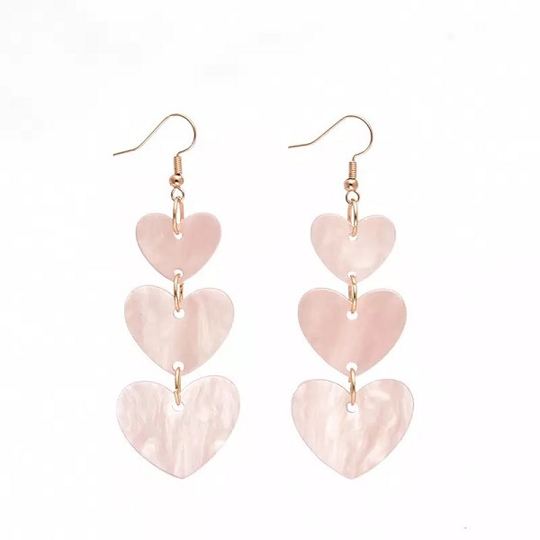 MULTI HEART DROP EARRINGS
